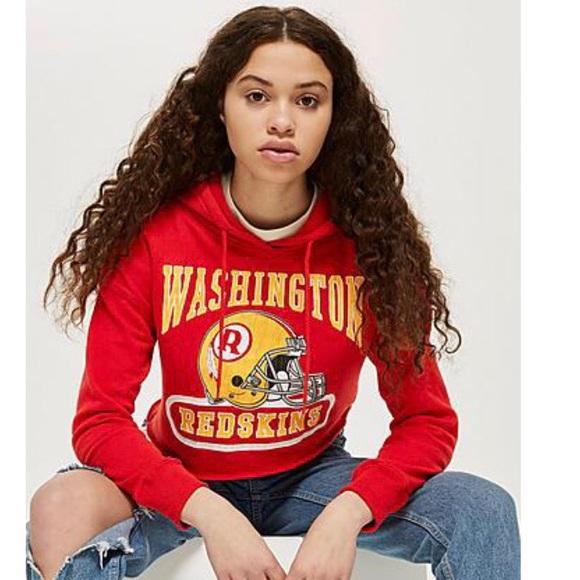 Topshop Vintage Washington Redskins Hoodie 4c53a407c